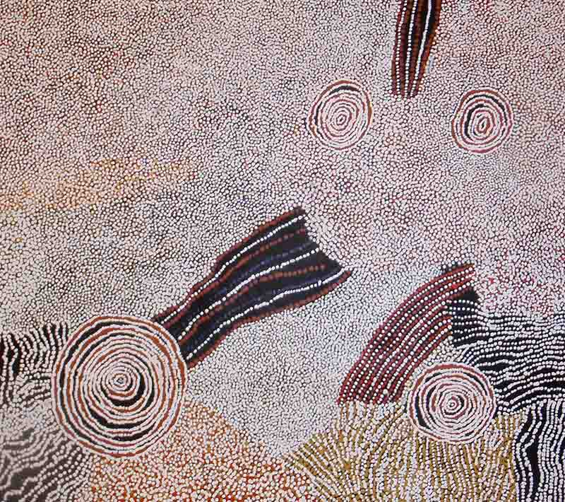 Bill Whiskey Tjapaltjarri, 152 x 151cm, #502 Image