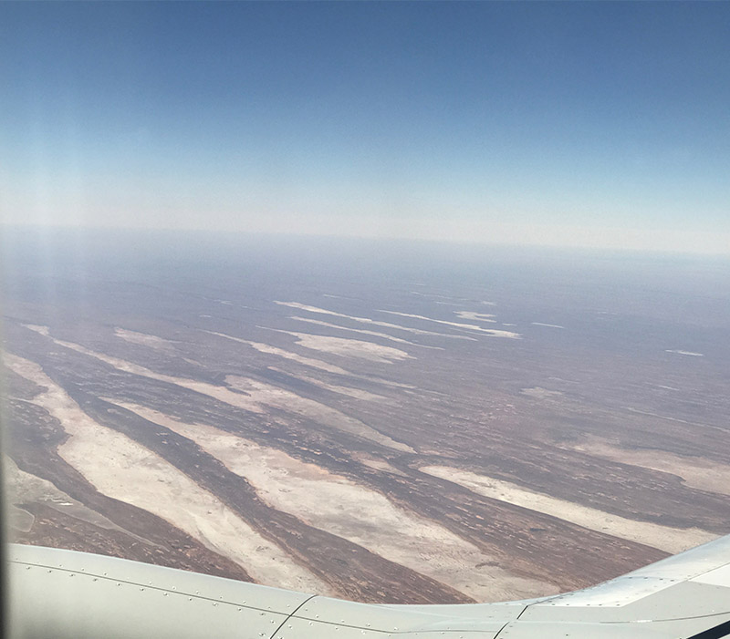 Salt pans near Alice Springs 2017