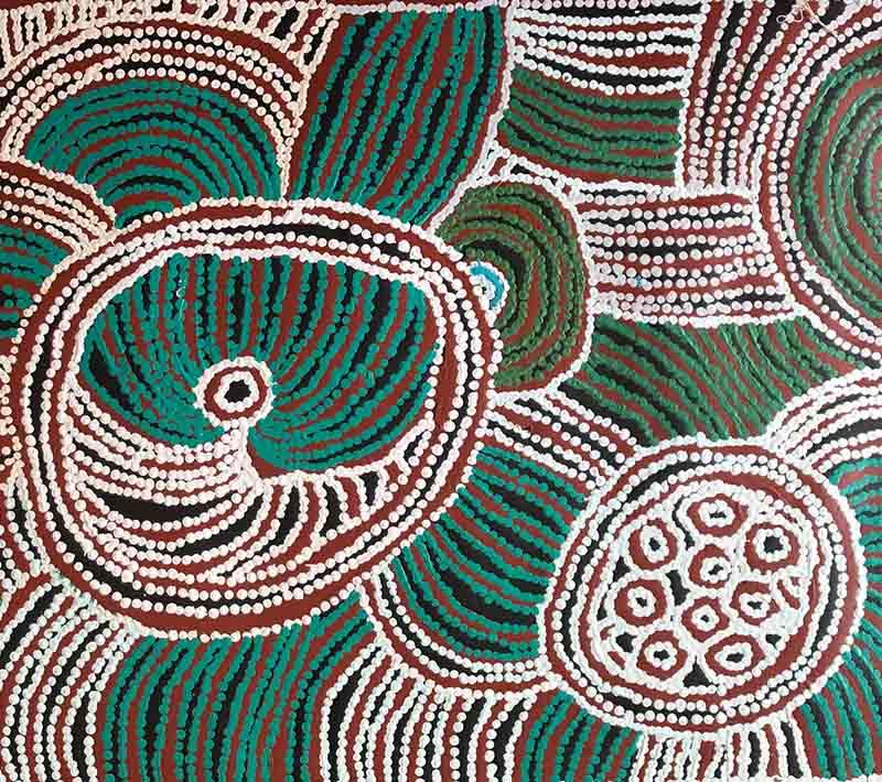 Tjawina Porter Nampitjinpa, 90 x 55cm, #1430 Image